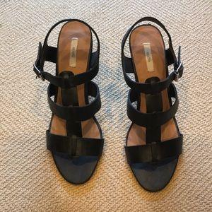 Ecote strappy black heeled sandals